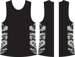 maquetas de camisa sin mangas vector