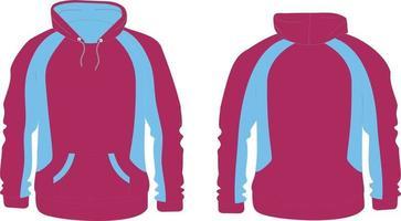 Hoodie Fabrics Cotton Fleece Mock ups vector