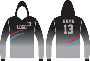 Long Sleeve Hoodie Design vector