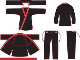 patrón de maquetas de jiu jitsu gi vector