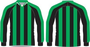 camisetas de fútbol sublimado manga completa vector