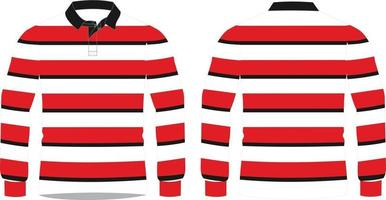 Rugby Shirts Knitted Mock ups vector