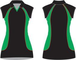 vestidos de netball maquetas sublimadas vector