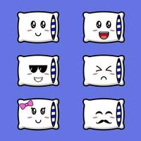Cute Pillow Set vector
