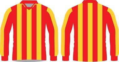 Football Sublimated Shirts full sleeve vector