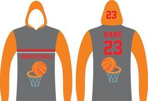 Long Sleeve Basketball Hoodie vector