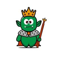 Cute King Orc vector