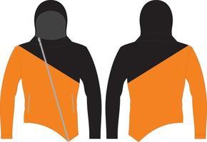 Custom Design Long Sleeve Hoodie vector