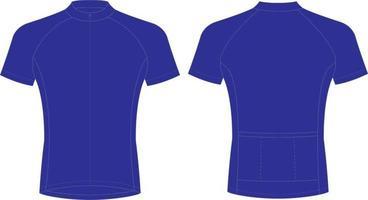 Half Sleeve t Shirt Blue vector