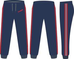 Sweat Pants Mock ups Designs vector