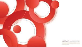 Abstract red pink circle background vector illustration
