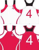 Lacrosse shirt custom design mock ups vector