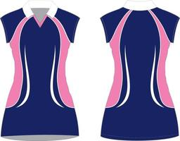 NetBall Dresses Sublimated Mock ups vector