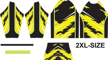 diseño de camiseta de motocross ajustar en patrón 2xl vector
