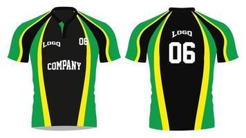 maquetas de camisetas sublimadas de rugby vector
