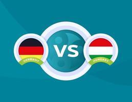 germany vs Hungary football vector
