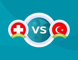 partido suiza vs turquía vector