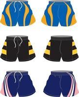 Sublimated Football Shorts Mock ups vector