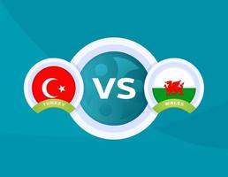 turkey vs Wales match vector
