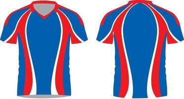 camisetas de fútbol sublimado media manga vector