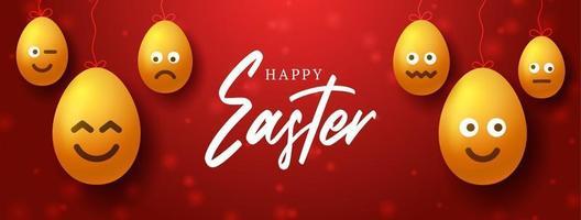 Easter egg emoji banner