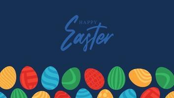happy Easter egg banner