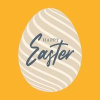 happy Easter egg flat poster