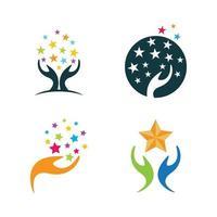 Take a star logo images set vector