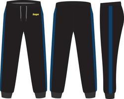 maquetas de diseño de pantalones de chándal vector