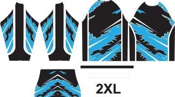 diseño de camiseta de motocross ajustar en patrón vector