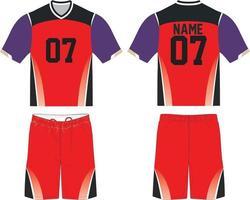 maquetas sublimadas de uniforme de lacrosse vector