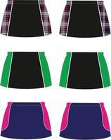 falda pantalón sublimada de hockey y netball vector