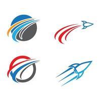 Rocket logo images set vector