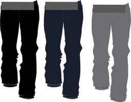 maquetas de pantalones de sudor vector