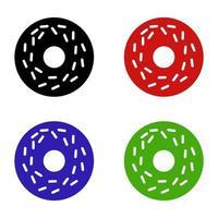 Donut Set On White Background vector