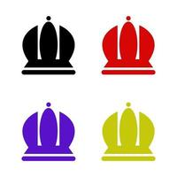 Crown Set On White Background vector