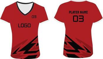 camiseta de voleibol sublimada para mujer vector