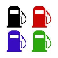 Gas Station On White Background vector