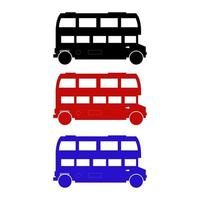 Set Of English Bus On White Background vector