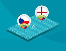 Football national team match versus