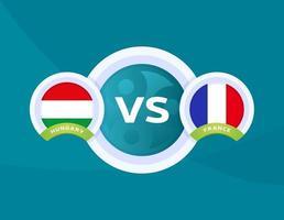 Hungary vs france vector