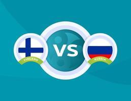Football national team match versus vector