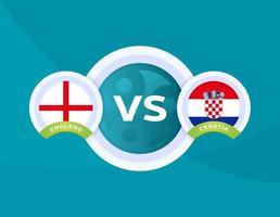 england vs Croatia vector