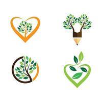 Ecology images illustration set vector