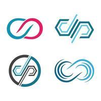conjunto de imágenes de logotipo infinito vector