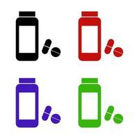 Set Of Medical Bottle On White Background vector