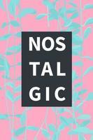 minimal nostalgic tropical vibe print template, pastel color, tropical vaporwave aesthetic style vector