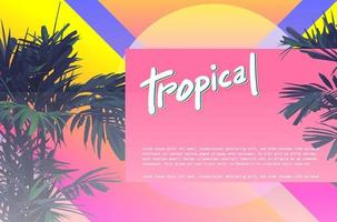 tropical 80s template vector