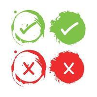 check marks bruses design vector