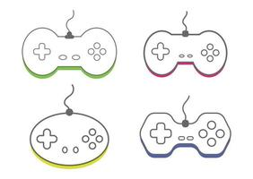 Collection Video game controller, icon gamepad vector illustration.